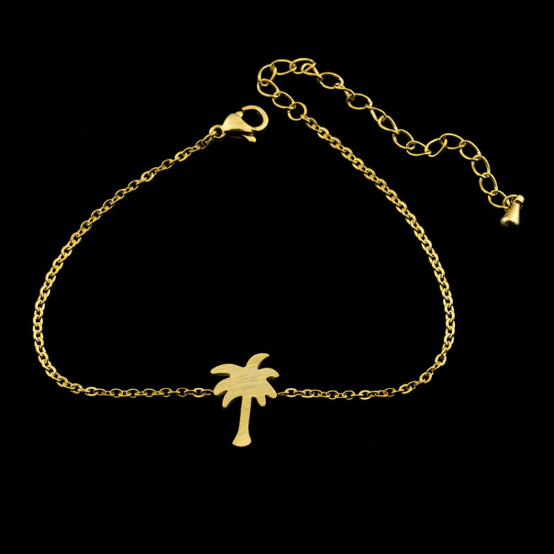 Tropical Palm Tree Charm Bracelet