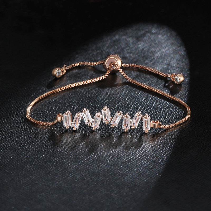 Adjustable CZ Diamond Bracelet