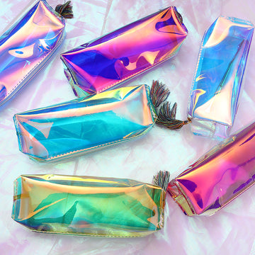 Transparent Holographic Cosmetic Case
