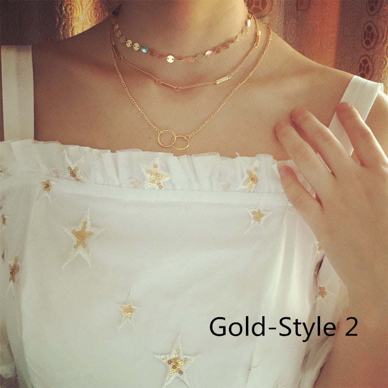 Multi Layer Choker Necklace