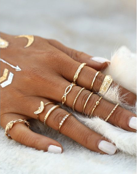 Midi Knuckle Ring Set