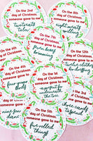 12 Days of Christmas Gift Tags (3 versions)