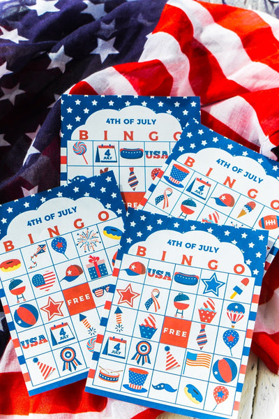 20 July 4th Bingo Cards