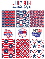 4th of July Sparkler Labels