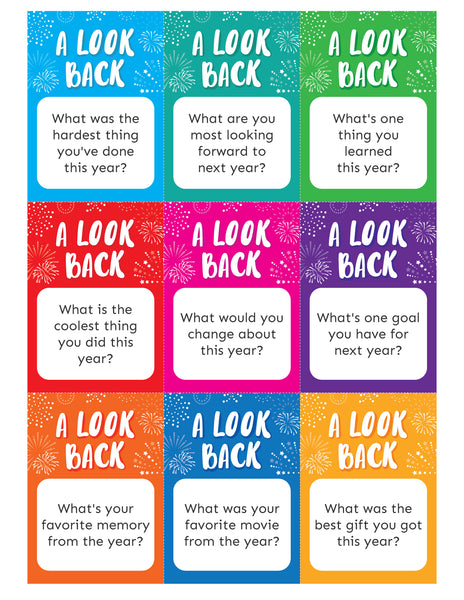 New Year's Eve Question Cards (50+ Questions)