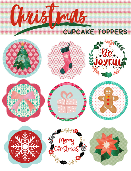 Christmas Cupcake Toppers (18 designs)