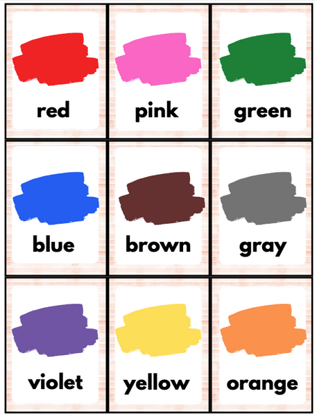 Spanish Color Flash Cards