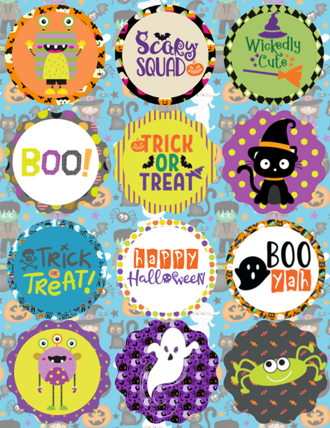 Halloween Cupcake Toppers & Drink Labels
