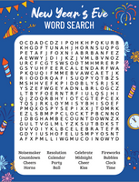New Year's Eve Word Search