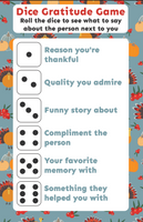 Thanksgiving Dice Gratitude Games (2 games)