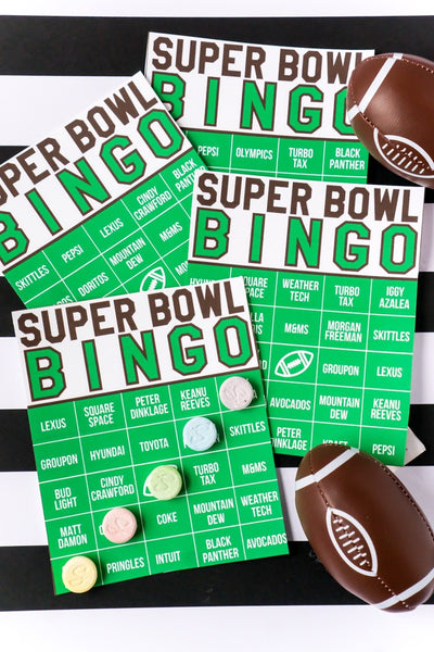 40 Super Bowl Commercial Bingo Cards