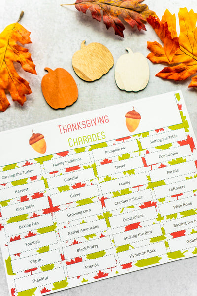 Thanksgiving Charades (50+ words!)