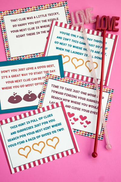 Valentine's Day Scavenger Hunt (2 versions!)