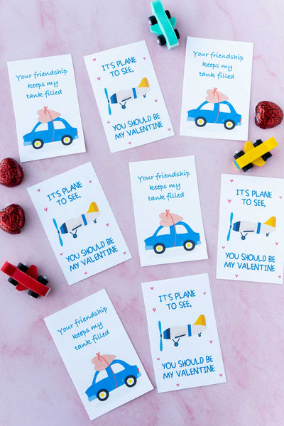 Car + Airplane Valentines