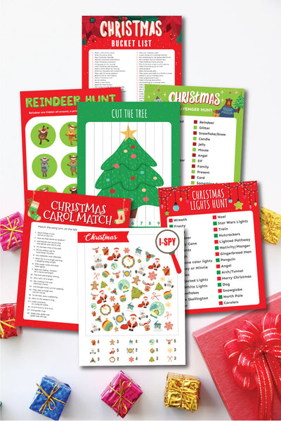 Christmas Kid Activities Bundle (14 activities)