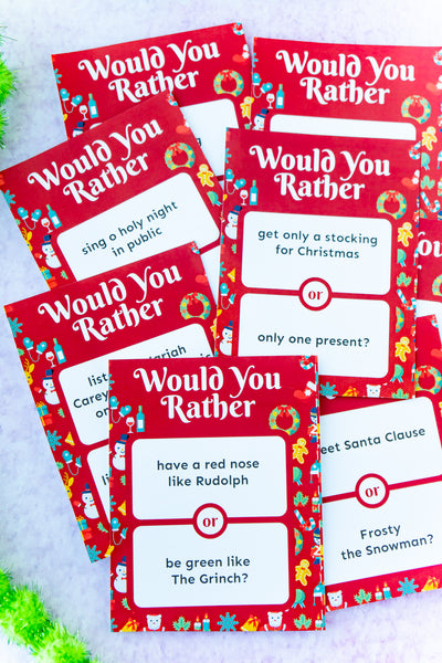 Christmas Would You Rather (50+ questions)
