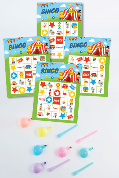 Circus Bingo Cards (20 unique cards!)