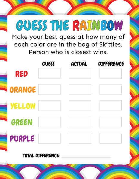 Guess the Rainbow Game