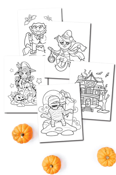 Halloween Coloring Pages (10 pages)