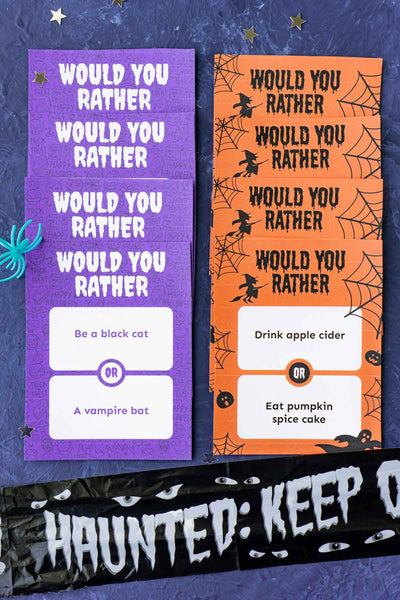 Halloween Would You Rather Game (48 cards!)