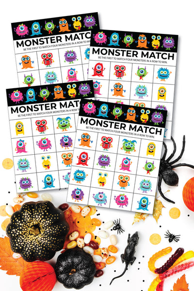 Monster Match Bingo Cards (20 unique cards!)