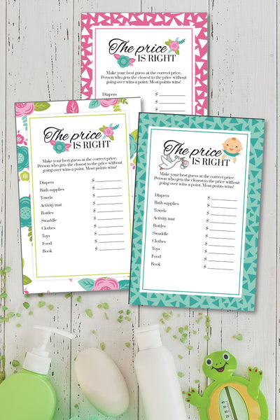 Baby Shower Shower Price is Right Game (3 designs!)