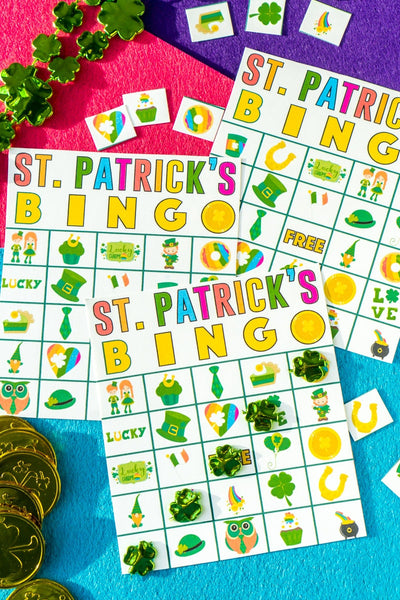 40 St. Patrick's Day Bingo Cards