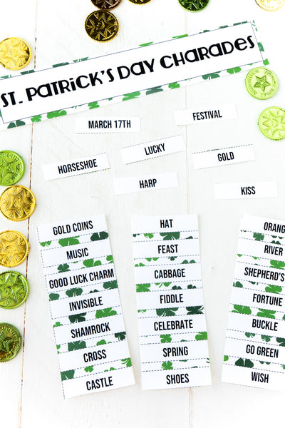 St. Patrick's Day Charades (50 words)
