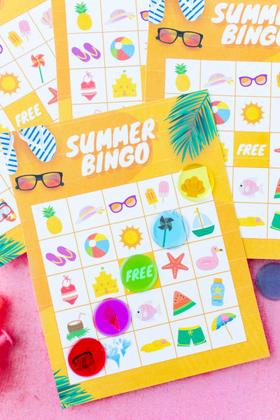 Summer Bingo Cards (20 unique cards!)