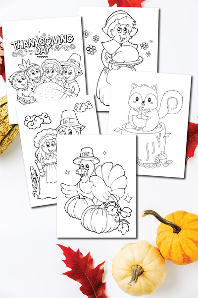 Thanksgiving Coloring Pages (10 pages)
