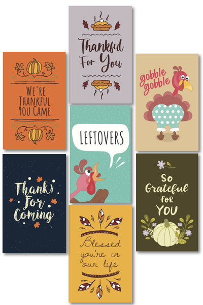 Thanksgiving Gift Tags (7 designs)
