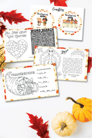 Thanksgiving Placemats (5 designs)