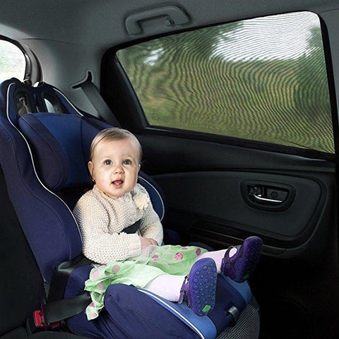 "Have you had enough of those bulky window cling films, plastic suction cups and stubborn suction sunshades that never seem to stay in place?  Do you love taking long drives but dread those harmful sun rays that put your family or pets at risk during the journey?  Well, worry no more! The Auto Window UV Protection Cover is the answer to all of your problems! This BEST QUALITY, universal, car sun-shade for kids will keep your children and pets fully protected from the sun's harmful UV rays and you can enjoy a long, comfortable trip without the anxiety!   The Customized Design measures 20.07"" X 17.32"" and stretches to 44.48"" X 20.07"". This window cover will fit most car door frames. (Please make sure to measure your car's rear window size before you purchase)  Buy the Pack of Two UV Protection Covers to help your car stay cooler inside and ensure that your passengers are all protected against too much sun exposure.  The Interior and Exterior layer mesh effectively protects your precious cargo from 97% of all harmful UV rays and they offer an SPF 30+ protection by blocking the sunlight and glare from your eyes. On the other hand, you still have the ability to roll down the window, breathe in the fresh air and enjoy the beautiful view outside!   The window cover enhances privacy and security for your back seat passengers. It's made of breathable and static mesh fabric which is lightweight but durable. Covers are compact and easy to store when not in use. They're a must-have car accessory for every car trip!"