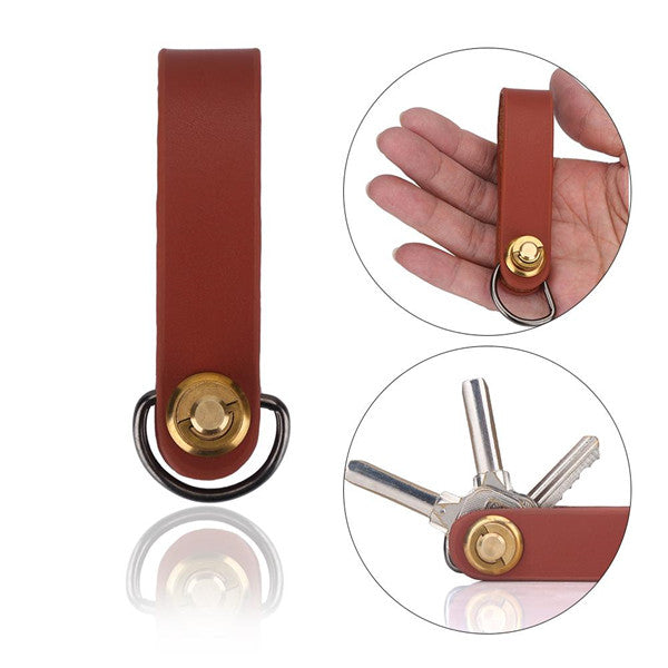 Leather holder with copper screw and painted edge is durable, noble and comfortable to the touch. Organizes your key and ensures order. Prevent your smartphone from being damaged in your pocket.