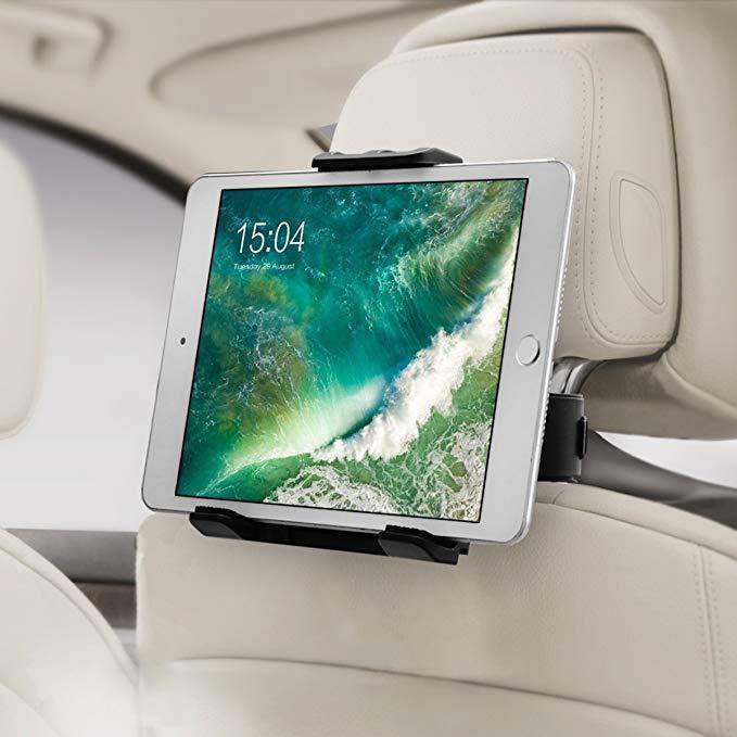 Car Seat Headrest Mount-Phone & Tablet Holder!