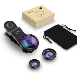 """Triple Flex"": 3-in-1 Universal Fit Smartphone Lens"