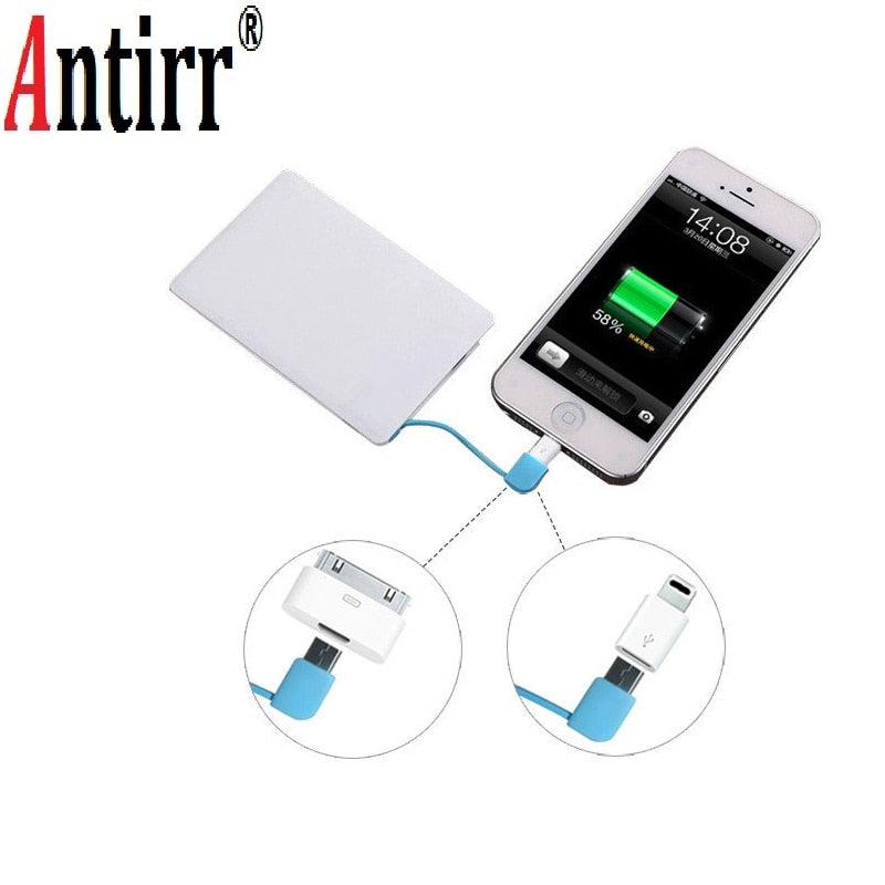 """Debit Power"" - Card-Sized Portable Phone Charger"