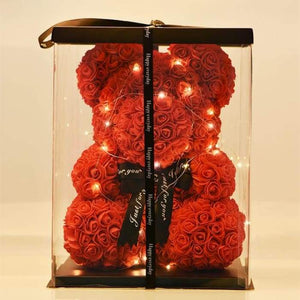 Rose Teddy Bear (with LEDs)