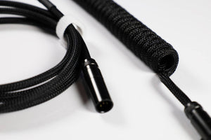 Blackout Custom Coiled USB Cable