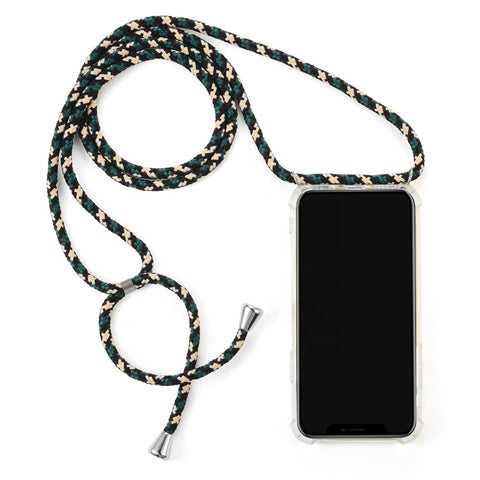 crossbody phone case phone necklace green camouflage leiloop