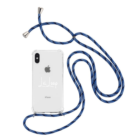 crossbody phone case necklace deep blue leiloop