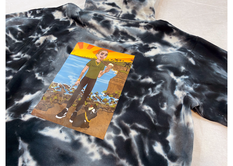 SUNDAZE COLLECTION HOODIE BLACK TYE DYE