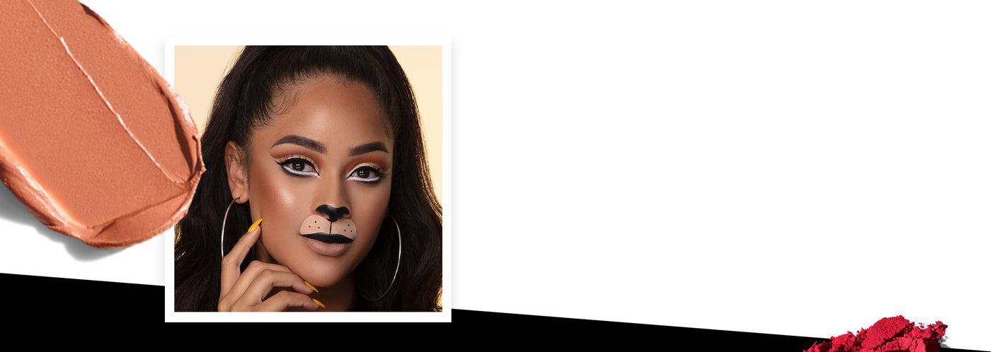 Lion Halloween makeup look