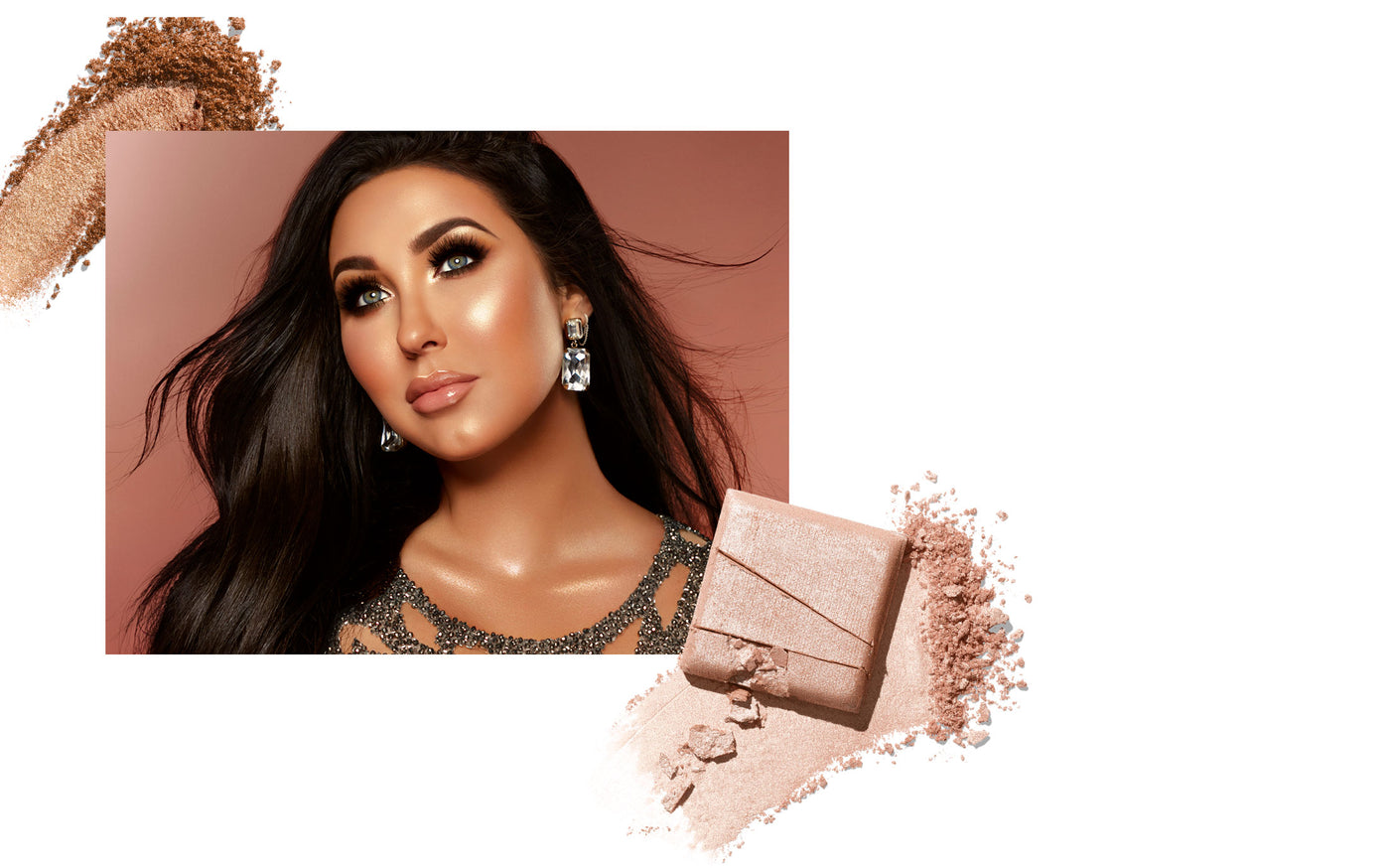 Jaclyn Hill with Jaclyn Cosmetics highlighter smears