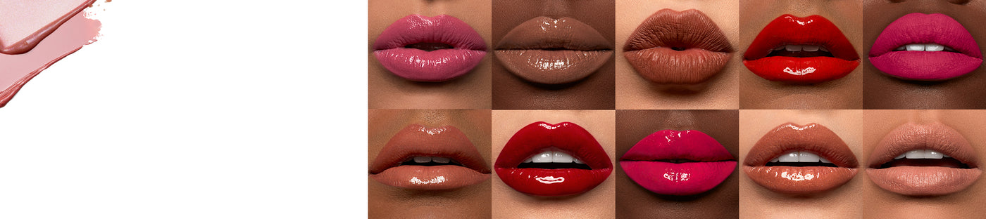 Morphe Lip product on various lips