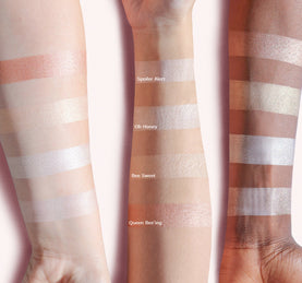 MILK & HONEY HIGHLIGHTING PALETTE ARM SWATCHES