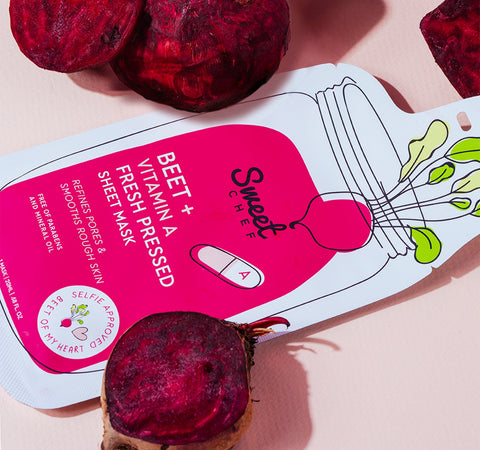 BEET + VITAMIN A FRESH PRESSED SHEET MASK