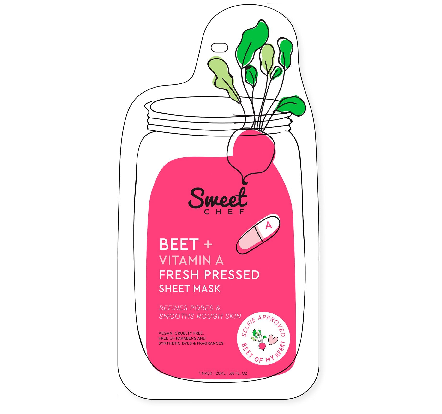 BEET + VITAMIN A FRESH PRESSED SHEET MASK, view larger image