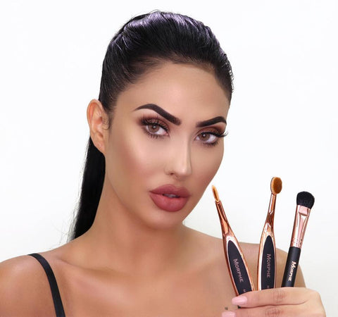 MORPHE X BRITTANY BEAR 360 NOSE CONTOUR COLLECTION ON MODEL