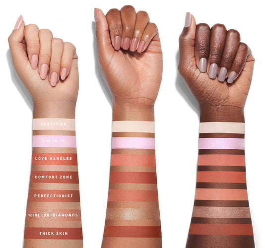JACLYN HILL PALETTE VOLUME II ARM SWATCHES